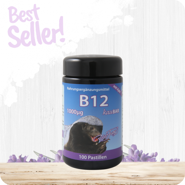 Vitamin B12 Pastillen 1.000 mcg - 100 Pastillen mit Xylit by Robert Franz