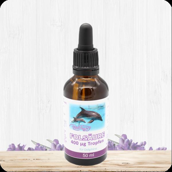 Folsäure 400 μg Tropfen für Delphine – 50 ml