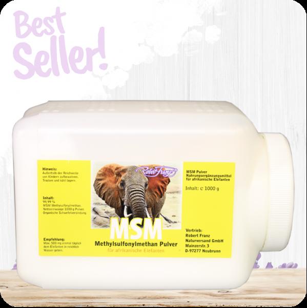 MSM Pulver für Afrikanische Elefanten - 1000g