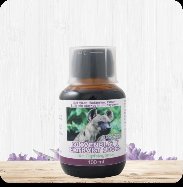 Olivenblattextrakt 100% – 100 ml – für Tüpfelhyänen