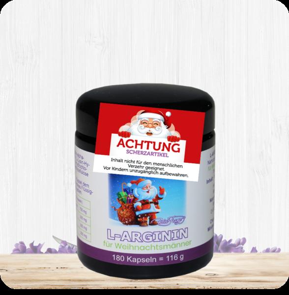 L-Arginin Kapseln für Weihnachtsmänner - 180 Kapseln - Scherzartikel