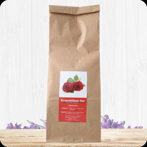Rosenblüten Tee geschnitten