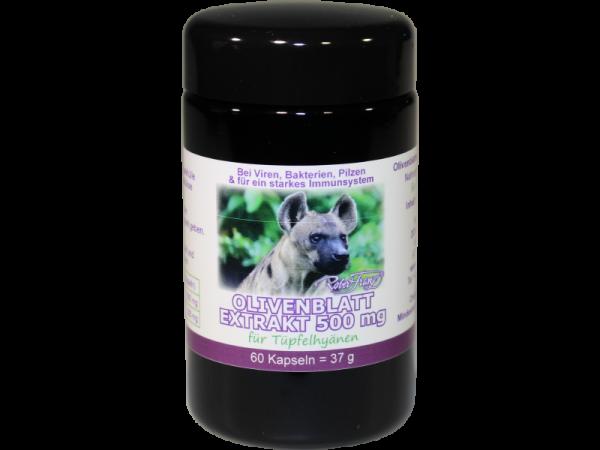 Olivenblattextrakt 500 mg – 60 Kapseln – für Tüpfelhyänen